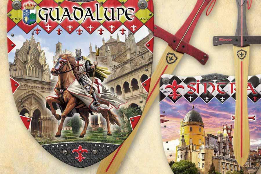 Espadas y escudos personalizados